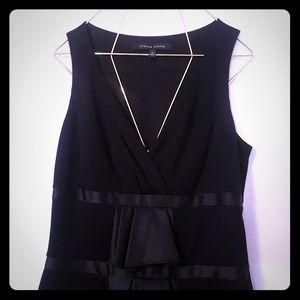 Cynthia Steffe Black Sleeveless ruffle Mini Dress